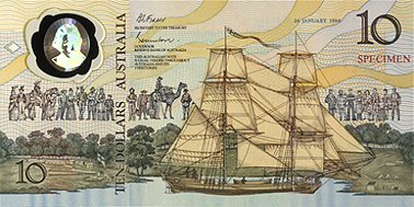 Commemorative bank note, 1988. Courtesy British Museum