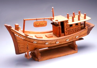 Model fishing boat, KIE GANG KG 02979, c.1980 PHM