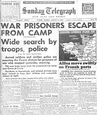 Daily Telegraph 4 August 1944. AWM