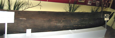Dugout canoe believed to be <em>Störtebeker</em> c.1917.