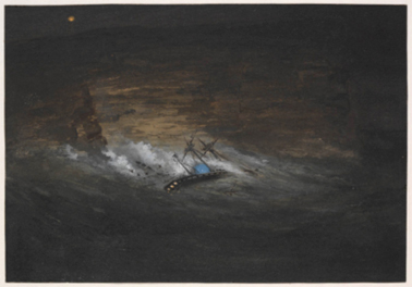 Wreck of the Dunbar, South Head, Dr Doyle's sketch book / John Thomas Doyle & Samuel Thomas Gill, c.1862-1863, Mitchell Library, State Library of New South Wales