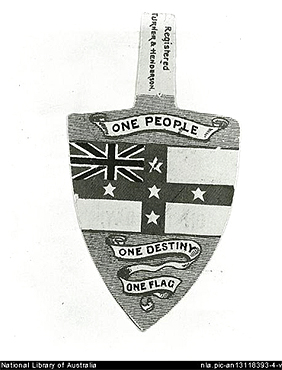 Federation Badge circa 1890s, NLA