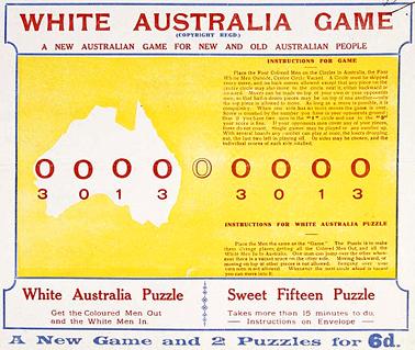 1920 White Australia Game | Australia's migration history timeline ...