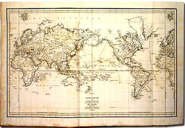 The map of the route of Lapérouse to Botany Bay 1785 -1788