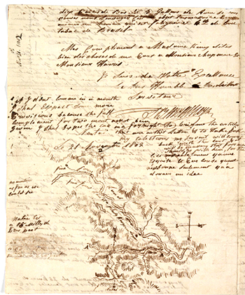 Barrallier's letter to Gov King, 1802, p4. Courtesy Mitchell Library, State Library of NSW