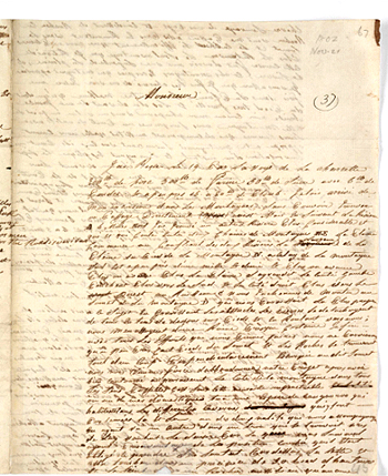 Barrallier's letter to Gov King, 1802, p1. Courtesy Mitchell Library, State Library of NSW