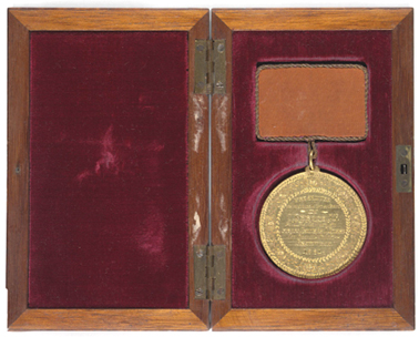 De Boos Medal, 1881. Courtesy of the State library of NSW