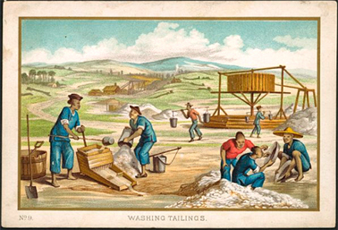 'Washing Tailings', Ten Australian Views, C.1870s. Courtesy National Library of Australia