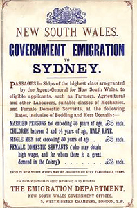 Immigration Poster c.1850