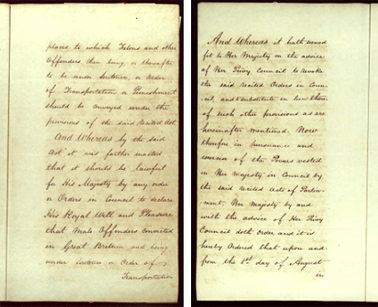Order-in-Council ending transportation to New South Wales, 22 May 1840 SRNSW pp3-4