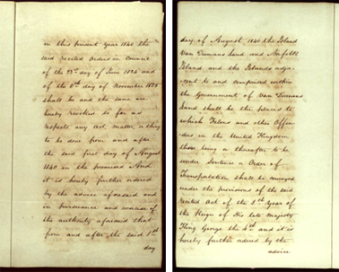 Order-in-Council ending transportation to New South Wales, 22 May 1840 SRNSW pp5-6