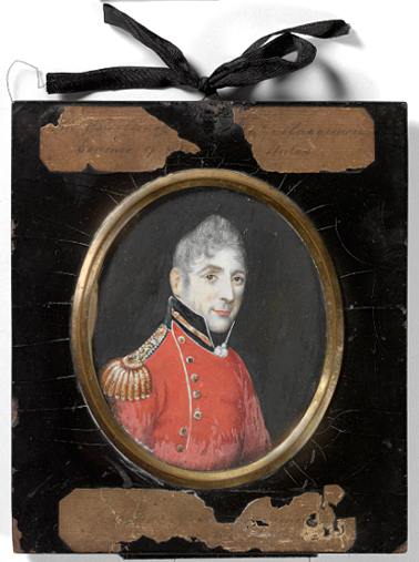 Lachlan Macquarie miniature portrait, 1810 MIN 71 SLNSW
