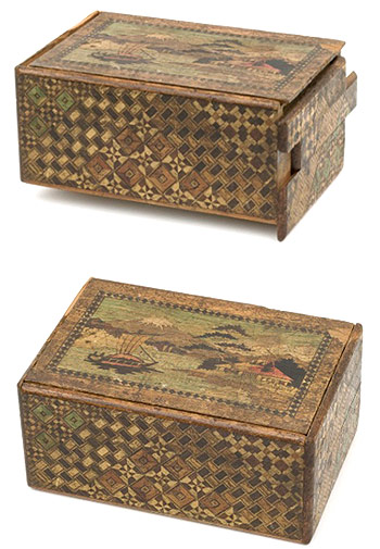 Photo: Japanese Himitsu-Bako puzzle box. Courtesy Australian War Memorial