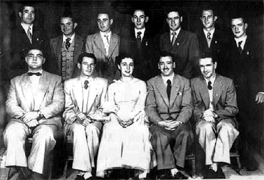 Members of the Continental Music Club, Yoogali Coronation Hall, 1953.
