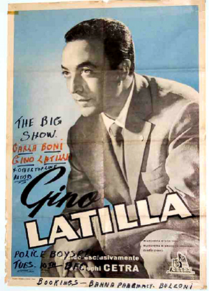 'The Big Show' poster featuring Gino Latilla.