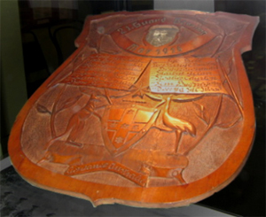 Carved Wooden Shield 1917