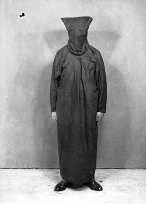 The costume of an inner Fascist group in the New Guard, c.1930s. Courtesy National Archives of Australia
