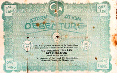 Starvation Debenture, 1932. Courtesy Powerhouse Museum