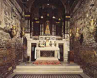 Interior of the Holy House of Loreto. Photograph Peter Kabaila