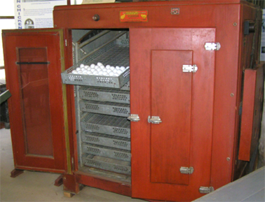Egg incubator, c.1920 - 30s, Photograph Wollondilly Heritage Centre