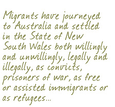 NSW Migration Heritage Centre - Manager's Message