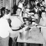 Pranzo (lunch) at 'Bonegilla', an early migrant camp in Albury Wodonga, NSW c. 1949. Courtesy of National Archives of Australia
