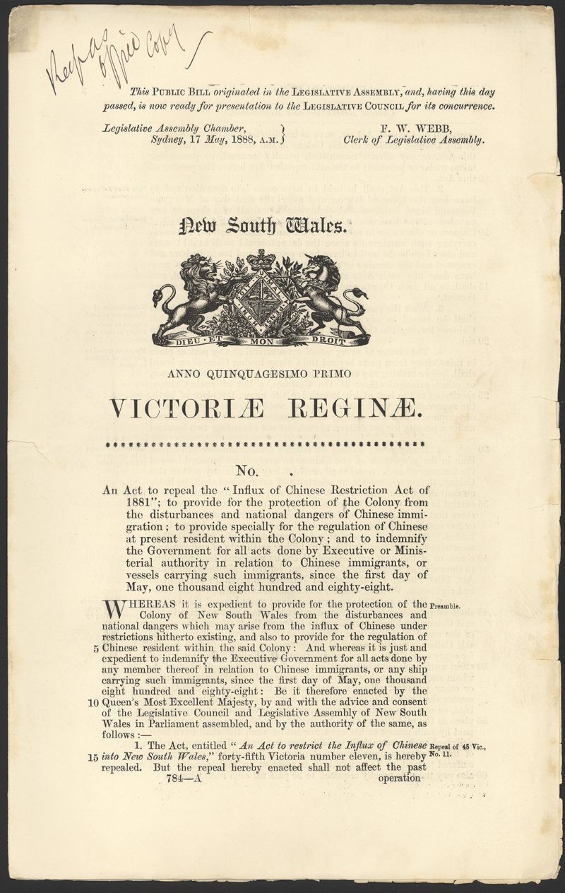 immigration restriction act essay Immigration restriction act- 1901 the immigration restriction act (1901) can be argued was a policy enacted to reflect the prejudices in australian society at the time.