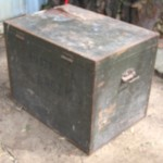 """This trunk was brought over to Australia and contained all of my father's implements for his shoemaking trade."""