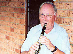 Ferdie Boers with his clarinet