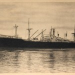 """I still have the postcard of the boat I arrived on. The Castel Bianco was supposed to disembark in Melbourne for the Bendigo camp but we were taken to Sydney [instead]. There was some sickness at Bendigo and no-one was allowed to go the camp."""