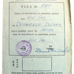 """This visa slip is from Communist Yugoslavia, now Serbia. When I left Serbia and decided not to return I did not receive the return stamp on this visa slip – it is still blank to this day. Instead I decided to migrate to Australia and make a new life."""