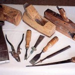 "Bill: ""The tools were all mine - two planes, a wooden mallet, chisels, a saw and a saw setter. I used them in Holland and then a little bit in the beginning in Australia until more modern tools were available."""