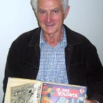"""I made these comic books 1948-1949 in Taranto, Italy when we were in the refugee camps. My mother gave me money to buy fruit and I would buy these comics instead! I did a course in bookbinding at another camp in Averso, Italy."""