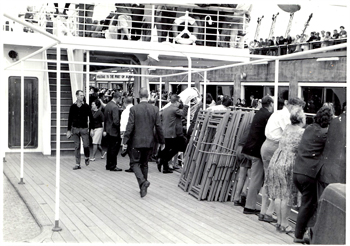 """This is a photograph taken by me on arrival in Melbourne, aboard the Flavia."""