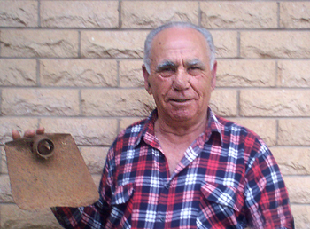 """I used the hoe a lot when I arrived in Leeton, farming with my father and on my own. I have used it even in my garden at the house in town."""