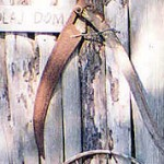"""The blade of the scythe was brought to Australia by my father Mikolaj from Germany where he had been a prisoner of war and later a Displaced Person. He used it extensively on our small acreage at Huntley."""