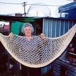 """When we were in the camp in southern Germany in 1949, people came around to the camp selling things. I bought this hammock for use on the ship to Australia; they said it would be handy to put Mirjana, my eight month daughter, in on the ship. We ended up going by plane but I took the hammock for the train to Naples."""