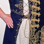 The Hungarian national costume worn by Yolanda Takacs' granddaughter, Joanna Morcom.