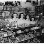 The Rizzuto fruit shop on Old South Head Road in Rose Bay North, NSW 1950 from left Ignazia Tramonte-Rizzuto, Mary, Nina and Frances. Courtesy of the Di Benedetto family