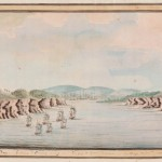 Sirius and convoy going, Botany Bay, 21 Jan 1788. Courtesy State Library of NSW