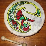"""The bodhran is an Irish musical instrument similar in some ways to a drum. It would be played in a band which would consist of a tin whistle and a fiddle, and is a reminder of my Irish heritage."""