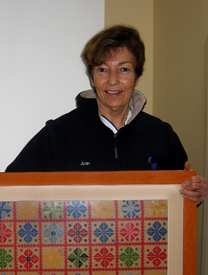 """This is only one of the many embroidered pieces made by my mother and brought to Australia with us. They are so beautifully made that the backs are as finely sewn as the fronts. I am so proud to have such beautiful work in my possession. She has passed away now and they remain as loving reminders of her."""