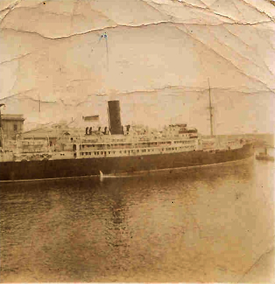 """On 1 August 1950, I boarded SS <em>Amarapoora</em> in Genoa, Italy on my way to my new country. I have a photograph of the ship, which has memories of hopefully coming to a better life."""