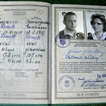 """This is my husband's German passport. I did not have a separate passport as I was included on his passport as his wife."""