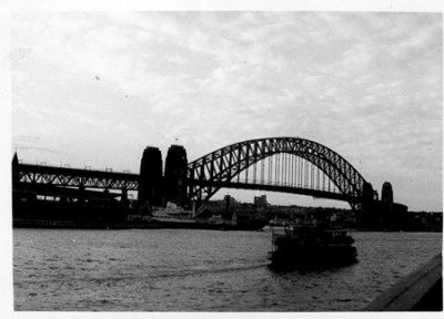 """I arrived in Sydney to a very cold, wintry August. Sydney Harbour was very beautiful and I took photographs of the Harbour Bridge."""