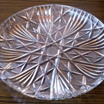 """This crystal plate is from my godmother and it was one of her wedding presents."""