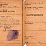 """This is my husband's Polish identity card with his thumbprint."""