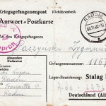 """My husband was a POW in Stalag 9c camp at Bad Sulza and his card is dated 3 November 1940."""