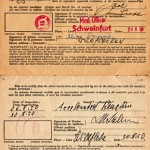 """I have my vaccination certificates to enter Australia. They were issued by the International Refugee Organisation for smallpox and done in Schweinfurt, Germany on 24 August 1950. I was 25 years old then."""
