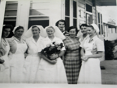"""I ended up staying ten years as a nurse at Greta migrant camp. I was the last one to go [at the hospital] and I helped close the camp in 1960."""